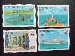 KIRIBATI Ex GILBERT 1981 INDUSTRIA De La PESCA De ATUN Yvert N 56 / 59 ** MNH - Kiribati (1979-...)