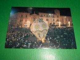Cartolina Ruvo Di Puglia Lancio Pallone Aerostatico In Piazza Regina Margherita - Bari