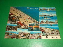 Cartolina Ricordo Di Miramare Di Rimini - Vedute Diverse 1962 - Rimini