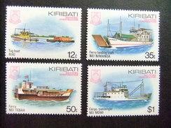 KIRIBATI Ex GILBERT 1984 BARCOS Yvert N 118 / 21 ** MNH - Kiribati (1979-...)