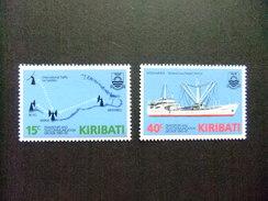 KIRIBATI Ex GILBERT 1985 TRANSPORTES Y COMUNICACIONES Yvert N 147 / 48 ** MNH - Kiribati (1979-...)