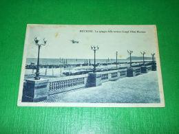 Cartolina Riccione - La Spiaggia Dalla Terrazza Grand Hotel Riccione 1931 - Rimini