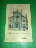 Cartolina Pinerolo - Il Duomo 1901 - Italie