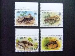 KIRIBATI Ex GILBERT 1987 FAUNA LAGARTOS Yvert N 172 / 75 ** MNH - Kiribati (1979-...)