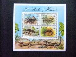 KIRIBATI Ex GILBERT 1987 FAUNA LAGARTOS Yvert N Bloc 8 ** MNH - Kiribati (1979-...)