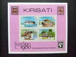 KIRIBATI Ex GILBERT 1980 LONDON 1980 EXPOSICION Yvert N Bloc 2 ** MNH - Kiribati (1979-...)