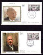 """2 Enveloppes 1er Jour De 1988 """" TRAITE FRANCO-ALLEMAND / GENERAL DE GAULLE """" En PARFAIT état ! FDC - De Gaulle (General)"""