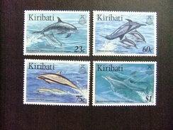 KIRIBATI Ex GILBERT 1996 FAUNA MARINA DELFINES Yvert N 371 / 74 ** MNH - Kiribati (1979-...)