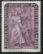 ARGENTINA 1951 DERECHOS POLITICOS DE LA MUJER  Granting Of Women Suffrage VOTO ALLE DONNE CENT. 10 10c MNH - Nuovi