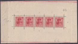 Luxembourg 1921 Mi#121 Kleinbogen, Very Rare Mint Never Hinged Block - Unused Stamps