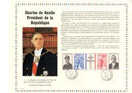 """FEUILLET PAC 1er Jour RARE """" HOMMAGE AU GENERAL DE GAULLE """" N° YT 1698A. PARFAIT état ! - De Gaulle (General)"""