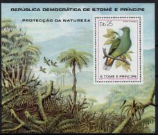 Sao Tome E Principe, 1979, Birds, MNH Perforated Sheet, Michel Block 39 - Sao Tome Et Principe