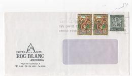 """LSC 1999- Enveloppe Avec Entête Hôtel Luxe """" ROC BLANC """" à ANDORRA- + Timbres  (REF H122) - Non Classés"""