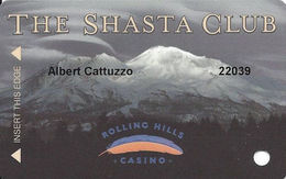 Rolling Hills Casino - Corning, CA USA - Slot Card - No Text Over Mag Stripe - Casino Cards