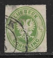 Lubeck, German State, Scott # 8 Used Coat Of Arms, 1863, Thins, CV$72.50 - Lubeck