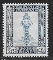 Libya, Scott # 53 Mint Hinged Perf 14 Diana ,1924 - Libya