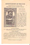 Apostleship Of Prayer General Intention For February, 21, 1949 - Devotion Images