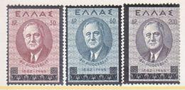 GREECE  469-71   **  F.D. ROOSEVELT - Unused Stamps