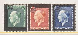 GREECE  498-500    **  KING  GEORGE  II - Greece