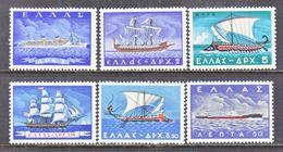 GREECE  618-23    **   EVOLUTION  OF  GREEK  SHIPS - Greece