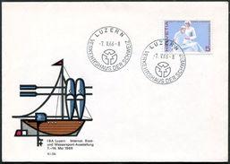 Switzerland Schweiz Suisse 1966 Luzern CANOE KAYAK Kajak Rowing Rudern Aviron SAILING Segeln Nautisme Yacht Cover - Kano