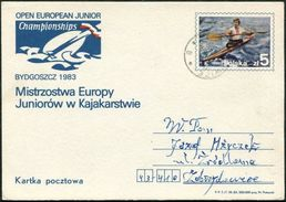 Poland Polen Pologne Stationery Card Rowing Rudern Aviron Bydgoszcz 1983 Junior Championship Kajak Kayak - Canoë