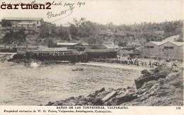 VALPARAISO BANOS DE LAS TORPEDERAS CHILI CHILE W.G. PATON ANTOFAGASTA CONCEPCION STAMP ISLAS JUAN FERNANDEZ 1900 - Chili