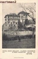 MONTREUX HOTEL MONT-BRILLANT CLARENS-MONTREUX W. WEBER VAUD SUISSE 1913 - VD Vaud