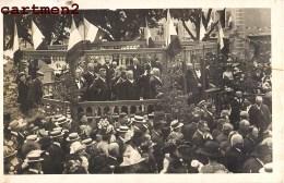CARTE PHOTO : COURS-LA-VILLE LA FETE DU 16 JUIN PERSONNALITEES POLITIQUE MAIRE 69 RHONE - Cours-la-Ville