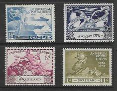 Swaziland, 1949 U.P.U. Set Of 4, C.d.s. Used, - Swaziland (...-1967)