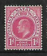 S.Africa: Natal, Edward VII, 1d, MH * - Zuid-Afrika (...-1961)