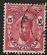 Zanzibar: 1936, 15 Cents Sans Serif, Used - Zanzibar (...-1963)