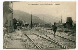 CPA   68  :  THANN Gare Et Militaires    A  VOIR  !!!!! - Thann