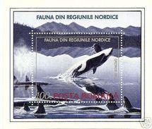 Romania 1992 Animals Marine Mammals Whales Polar Region Mountain Nature Sea Whale Animal Mammal S/S Stamp MNH Sc 3789 - Whales