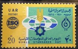 E24 - Egypt UAR 1970 SG 1071 MNH Stamp - World Standards Day - Unused Stamps