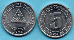 C3/  NICARAGUA 5 Centavos 1974 FAO Km#27 - Nicaragua