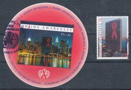 2002 UNU NY  Sensibilisation Au SIDA   AIDS  Yvert N° 894, BF 23,   Michel N° 912, BF 22 - New-York - Siège De L'ONU