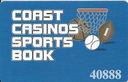 Coast Casinos Sports Book Card From Las Vegas, NV USA - Casino Cards