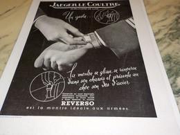 ANCIENNE PUBLICITE MONTRE REVERSO DE JAEGER LE COULTRE 1939 -  1940 - Bijoux & Horlogerie