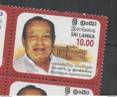SRI LANKA, 2017, MNH, MONTAGUE JAYEWICKCREME, POLITICIANS, 1v - History