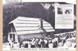 Ercast382 Peu Commun 04-LE LAVERQ 15 Août 1985 Baptême  Refuge Charles AVOCAT Philippe DAVIN Vallée UBAYE - Autres Communes