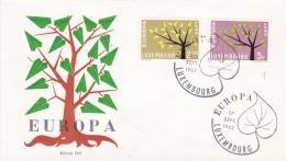 Luxembourg 1962 FDC Europa CEPT (DD1-10) - Europa-CEPT
