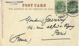 1904- Post Card From  DARJEELING   Franking 1 Penny  Canc. Bombay - India