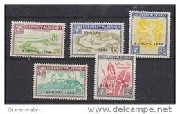 Europa Cept 1962 Guernsey - Alderney 5v ** Mnh (36321) - 1962