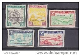 Europa Cept 1962 Guernsey-Sark 5v  * Mh (mint Hinged) (36322) - 1962