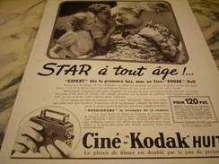 ANCIENNE PUBLICITE STAR A TOUT AGE CINE-KODAK HUIT 1939 - Otros