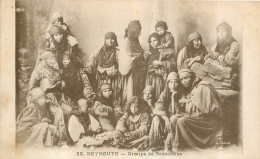 BEYROUTH  GROUPE DE BEDOUINES - Syrie