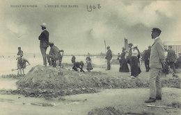 """Heyst Sur Mer - L'Heure Des Bains (animation, 1908, """"verte"""") - Heist"""