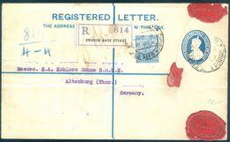 1930 Flight Reg. Cover Bombay India Shanghai Bank (HSBC) To Attenberg Germany - 1911-35 King George V