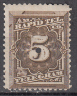 United States    Scott No.  IT 3    Used-punched     Year 1881 - Telegraph Stamps